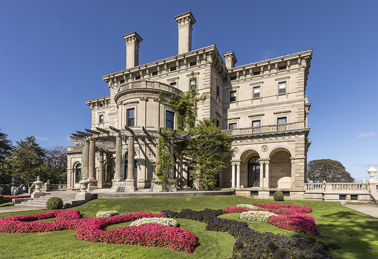Newport: the breakers is an old Newport Vanderbilt Mansion  located on Ochre Point Avenue.  Open to public for entrance fee but still run by private owner.